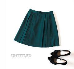 Lサイズ♪ UNTITLED*アンタイトル*秋色のプリーツスカート♪