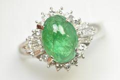 エメラルド 2.70ct ダイヤモンドリング 15号 指輪