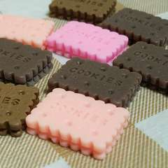 103 F ☆ 9 コ ☆ クッキー ビスケット ☆ 約 2.3 cm ☆ デコパーツ