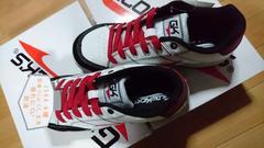 送料込☆新作グロウキックス安全靴【耐油、白】25.5cm