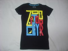 wr487 女 ZOO YORK ズーヨーク 黒 半袖Tシャツ Sサイズ ★