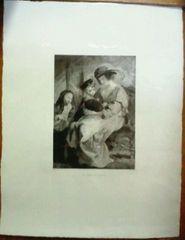 絵画 銅版画 ルーベンス『ルーベンス夫人』ルーヴル美術館カルコグラフィー