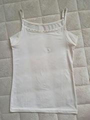 美品ストーン付きホワイト汗取りキャミソールインナーLサイズ