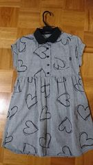 MILK PaintハートシャツワンピースミルクOP