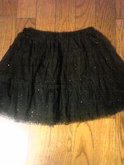 moussyブラックチュチュスカート美品ラメドット