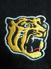 プロ野球 阪神タイガース ファンクラブ 限定 ミズノ ポロシャツ シャツ ブラック SS-S