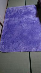 ラグマット紫 長方形