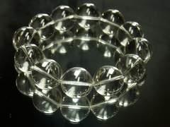 本水晶クリスタル18mm数珠ブレスレット!!開運天然石パワーストーン
