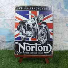 新品【ブリキ看板】Norton/ノートン Best Road Holder