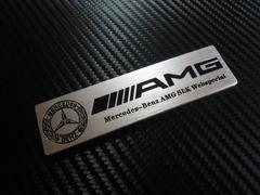 ● Mベンツ アルミ製 AMG仕様 エンブレム B/SILVER 社外品処分