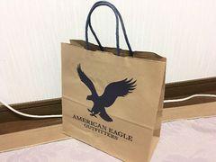アメリカンイーグル紙袋ショップ袋ショッパーAEO American