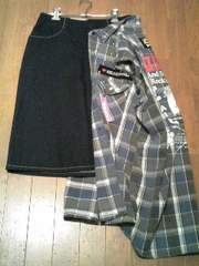 Levi's(リーバイス)リメイクスカート+Leeベストカスタム