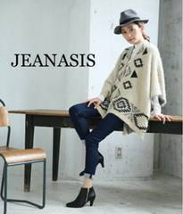 定価7,020円【新品同様】JEANASIS キカガラニットポンチョ White