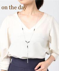 定価2196円【新品】on the day シンプルビーズ使いY字ネックレス