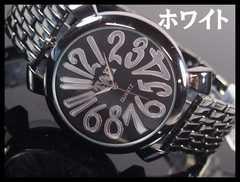 人気★T&Hメンズ腕時計メタルウォッチ★ホワイト文字盤