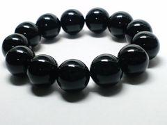 天然§ブラックオニキス16ミリ§黒瑪瑙数珠