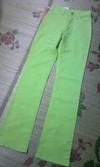 †新品††定価6,900円CELLULOID綺麗な黄緑カラーパンツ†