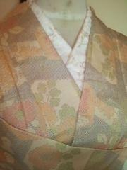 パステル点描亀甲小紋正絹単衣155新同レタR