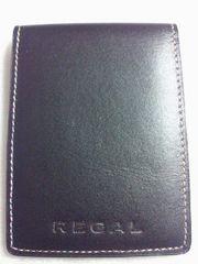 REGAL リーガル 本革 ブラック カードケース 箱あり