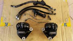 GT750純正Wキャリパー&ホース固着無GT550GT380GS400Z2CBX400ブレーキマスター