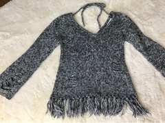 GARULA  Vネックダメージ加工セーター Mサイズ