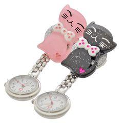 にこにこ リボンネコナースウォッチ 懐中時計 看護士 医療 時計