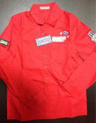 新品☆Mサイズ☆ベティーズブルー  赤デザイン長袖シャツ