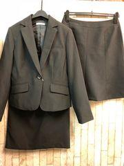 新品☆11号スーツ黒定番スカート2種付き!お仕事にも☆s519