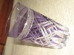 未使用☆切り子グラス*酒器コップ*KAGAMI CRYSTAL(パープル)