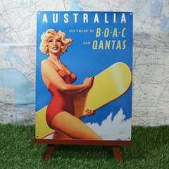 新品【ブリキ看板】Australia/オーストラリア BOAC -QAL-