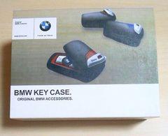 新品(社外展示品)BMWキーケースleather black×red
