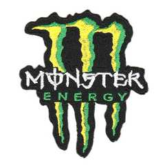 モンスターエナジー(Monster Energy)■ワッペン■黒黄白緑