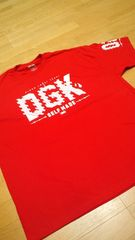 LA直輸入!DGK 赤 REDサイズ2XLXXL skate border
