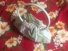 新品未使用☆綺麗な色のストライプ☆コロンとした可愛いバッグ☆