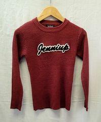 ☆Jenni/胸ロゴワッペン入り 長袖セーター/胸囲70-75�p