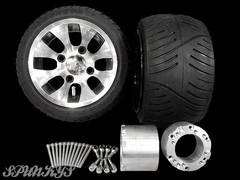 ジャイロ用ツートンホイール扁平タイヤ&スペーサー100mm