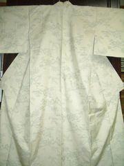 風景紋様 袷の紬のお着物 未使用品
