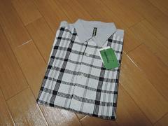 新品フラボアFRAPBOISオンチェックシャツ2灰レイヤードブラウス