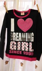 新品姫ギャルドット&ラメプリロンT140長袖Tシャツ
