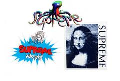 Supreme Mona Lisa Ganesha Tentacles Sticker Set