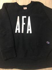 米国製 チャンピオン AFA 赤単色 リーバスウィーブ 紺 L USA