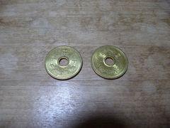平成19年 5円 2枚 特年
