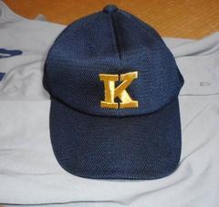 慶應義塾大学 體育會 野球部 帽子 六大学 ミズノ製