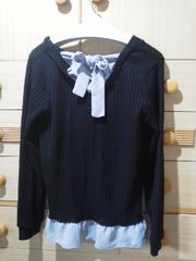 アクシーズ背中リボンが可愛いセーター/送料250円