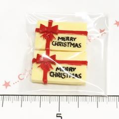 22*�@スタ*デコパーツ*2個*クリスマスプレゼント*赤*22