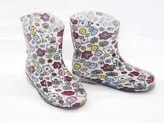 モンフレール レインブーツ 7008 17.0cm 花クマ 可愛い 長靴