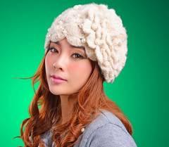 新品 ゴスロリ姫系可愛い白薔薇の妖精パールニット帽