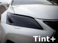 Tint+何度も貼れるレクサスGS GRL10前期ヘッドライト スモークフィルム