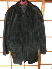 濃紺スエードハーフコート