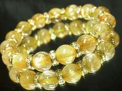 特選プレミアム級!!!金針水晶タイチンルチル10ミリ数珠ブレスレット